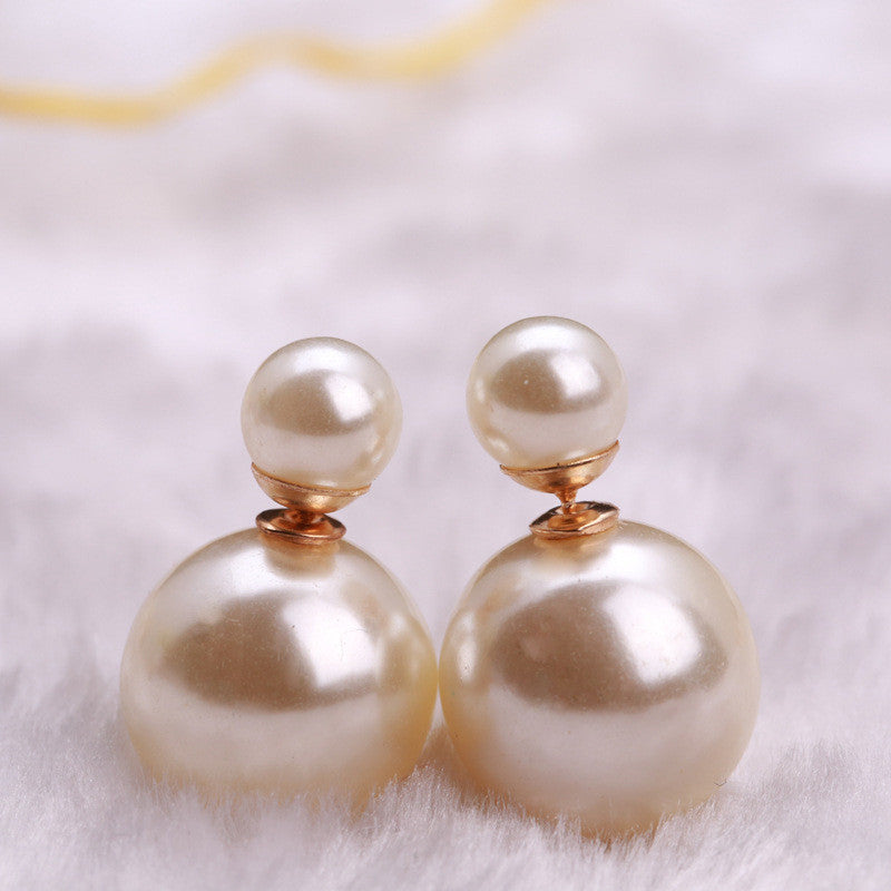 Candy Color Big Little Pearl Earring - Oh Yours Fashion - 17