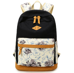 Floral Splicing Casual School Backpack Travel Bag - Oh Yours Fashion - 11