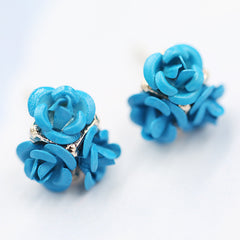 Ceramic Roses Diamond Earring - Oh Yours Fashion - 2