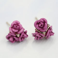 Ceramic Roses Diamond Earring - Oh Yours Fashion - 13