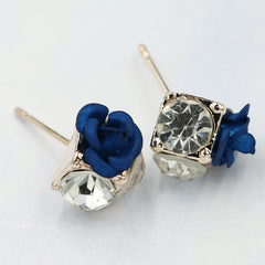 Ceramic Roses Diamond Earring - Oh Yours Fashion - 5
