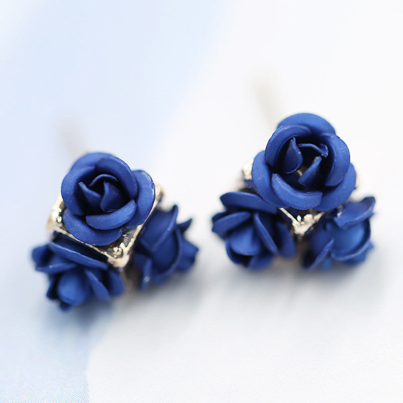 Ceramic Roses Diamond Earring - Oh Yours Fashion - 16