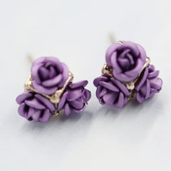 Ceramic Roses Diamond Earring - Oh Yours Fashion - 14