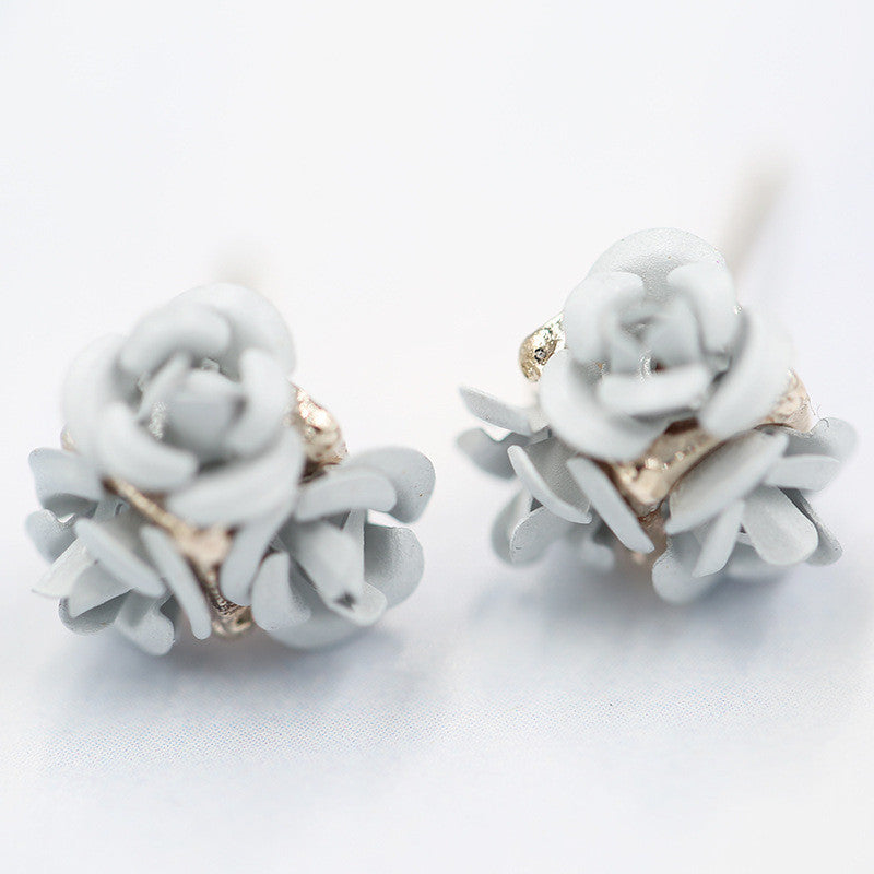 Ceramic Roses Diamond Earring - Oh Yours Fashion - 4