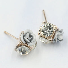 Ceramic Roses Diamond Earring - Oh Yours Fashion - 12