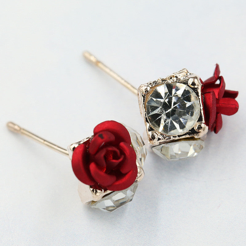 Ceramic Roses Diamond Earring - Oh Yours Fashion - 6