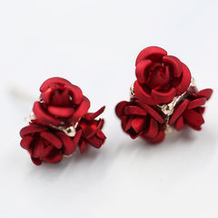 Ceramic Roses Diamond Earring - Oh Yours Fashion - 1