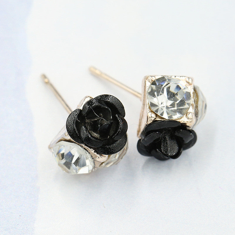 Ceramic Roses Diamond Earring - Oh Yours Fashion - 8