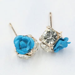 Ceramic Roses Diamond Earring - Oh Yours Fashion - 9