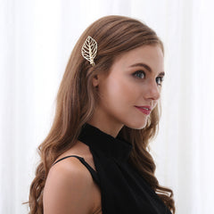 Metal Leaves Women's Hair Clips - Oh Yours Fashion - 2