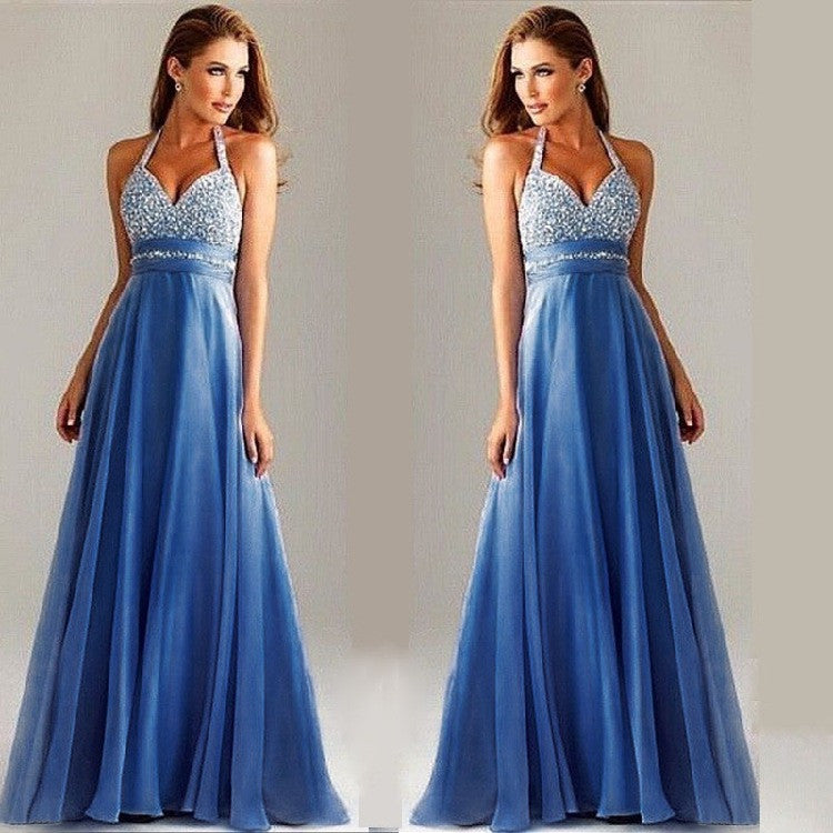 Sleeveless Spaghetti Strap Strapless Mesh Long Evening Dress - Oh Yours Fashion - 1