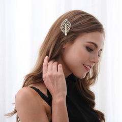 Metal Leaves Women's Hair Clips - Oh Yours Fashion - 1