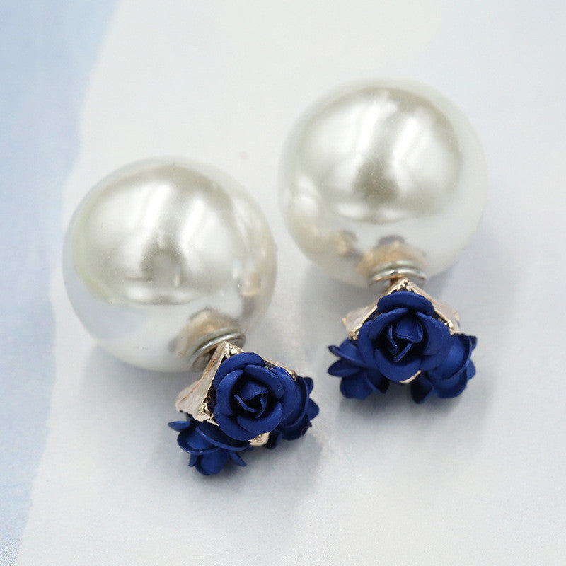 Sweet Roses Flowers Diamond Stud Earrings - Oh Yours Fashion - 17