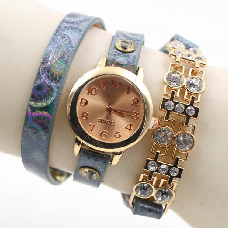 Personality Crystal Patchwork Watch - Oh Yours Fashion - 7