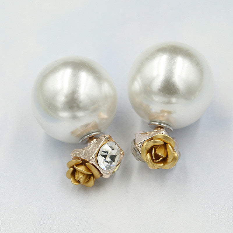 Sweet Roses Flowers Diamond Stud Earrings - Oh Yours Fashion - 11