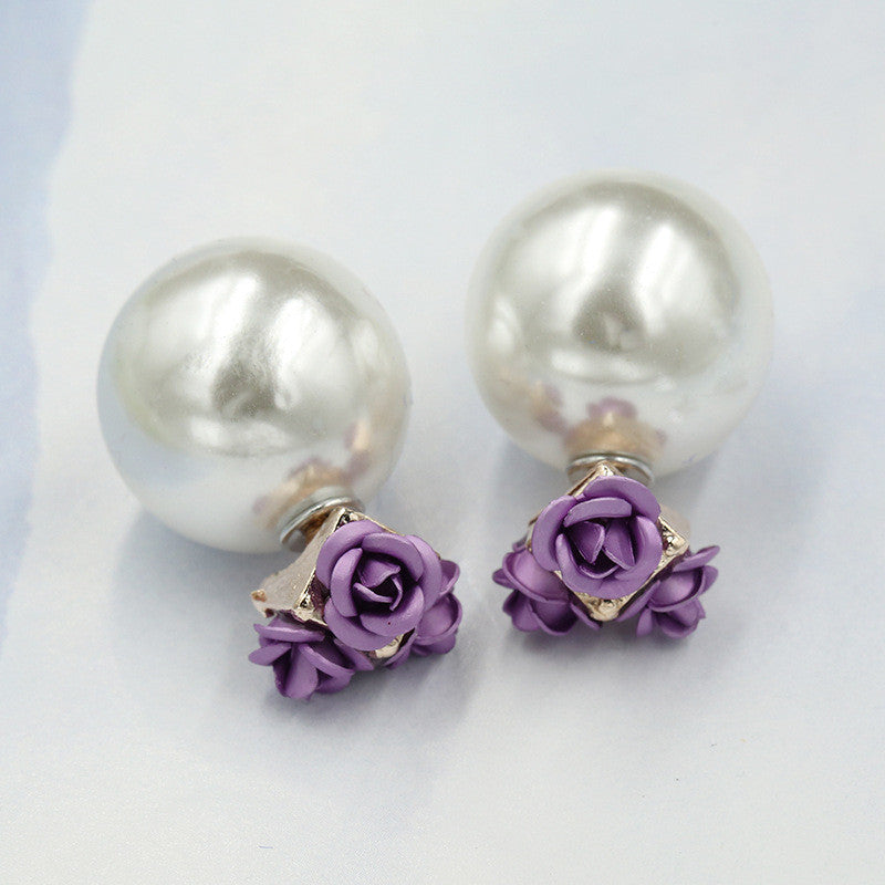 Sweet Roses Flowers Diamond Stud Earrings - Oh Yours Fashion - 15