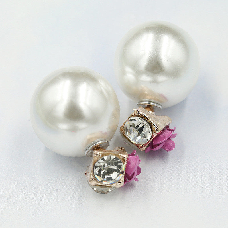 Sweet Roses Flowers Diamond Stud Earrings - Oh Yours Fashion - 13