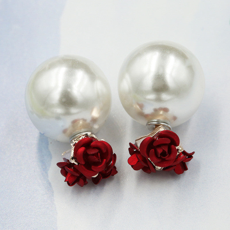 Sweet Roses Flowers Diamond Stud Earrings - Oh Yours Fashion - 14