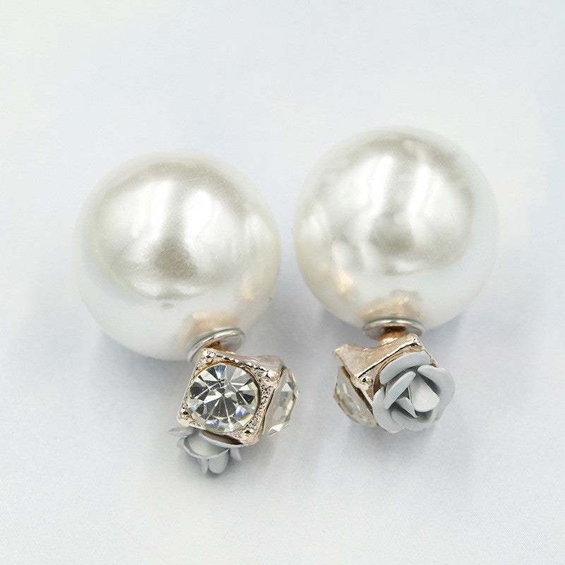 Sweet Roses Flowers Diamond Stud Earrings - Oh Yours Fashion - 12