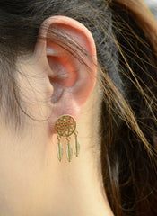 Dreamcatcher Hollow Out Feather Earring Ring Bracelet Necklace - Oh Yours Fashion - 7