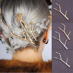 Metal Branch Women's Hair Clips - Oh Yours Fashion - 3