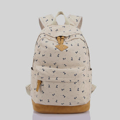 Giraffe Print Simple Fashion Canvas School Backpack - Oh Yours Fashion - 5