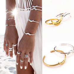 Exaggerated Snake Moon Opening Ring Bracelet - Oh Yours Fashion - 1