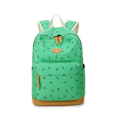 Giraffe Print Simple Fashion Canvas School Backpack - Oh Yours Fashion - 1