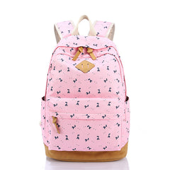 Giraffe Print Simple Fashion Canvas School Backpack - Oh Yours Fashion - 3