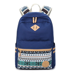 Flower Print Casual Backpack Canvas School Travel Bag - Oh Yours Fashion - 4