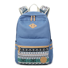 Flower Print Casual Backpack Canvas School Travel Bag - Oh Yours Fashion - 7