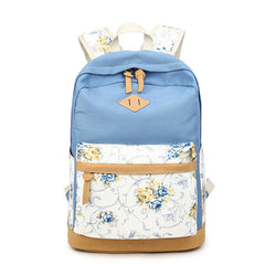 Floral Splicing Casual School Backpack Travel Bag - Oh Yours Fashion - 7