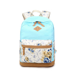 Floral Splicing Casual School Backpack Travel Bag - Oh Yours Fashion - 6