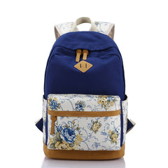 Floral Splicing Casual School Backpack Travel Bag - Oh Yours Fashion - 5