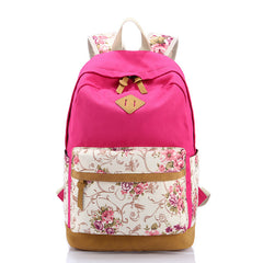 Floral Splicing Casual School Backpack Travel Bag - Oh Yours Fashion - 9