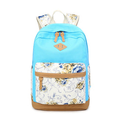 Floral Splicing Casual School Backpack Travel Bag - Oh Yours Fashion - 8