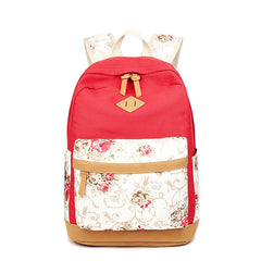 Floral Splicing Casual School Backpack Travel Bag - Oh Yours Fashion - 10