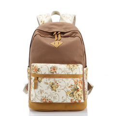 Floral Splicing Casual School Backpack Travel Bag - Oh Yours Fashion - 2