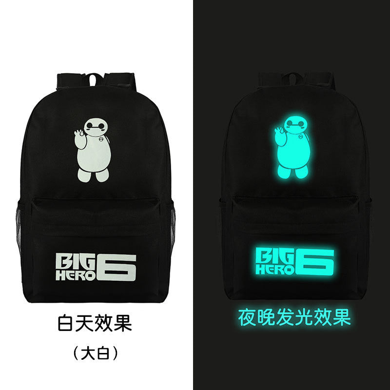 Noctilucent Canvas Chic Backpack Black School Bag - Oh Yours Fashion - 12