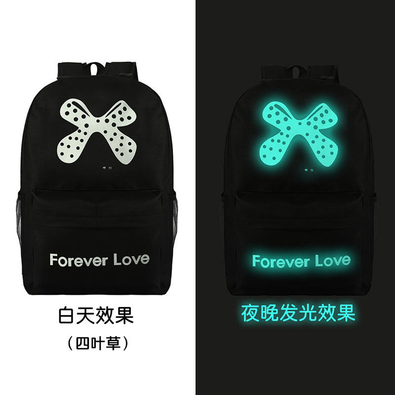 Noctilucent Canvas Chic Backpack Black School Bag - Oh Yours Fashion - 3