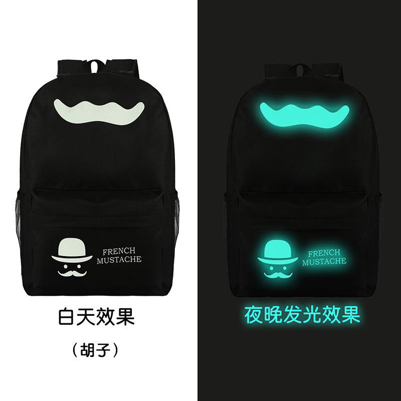 Noctilucent Canvas Chic Backpack Black School Bag - Oh Yours Fashion - 6