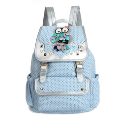 Drawstring Fashion Owls Rivet Canvas Backpack - Oh Yours Fashion - 4
