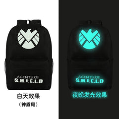 Noctilucent Canvas Chic Backpack Black School Bag - Oh Yours Fashion - 4