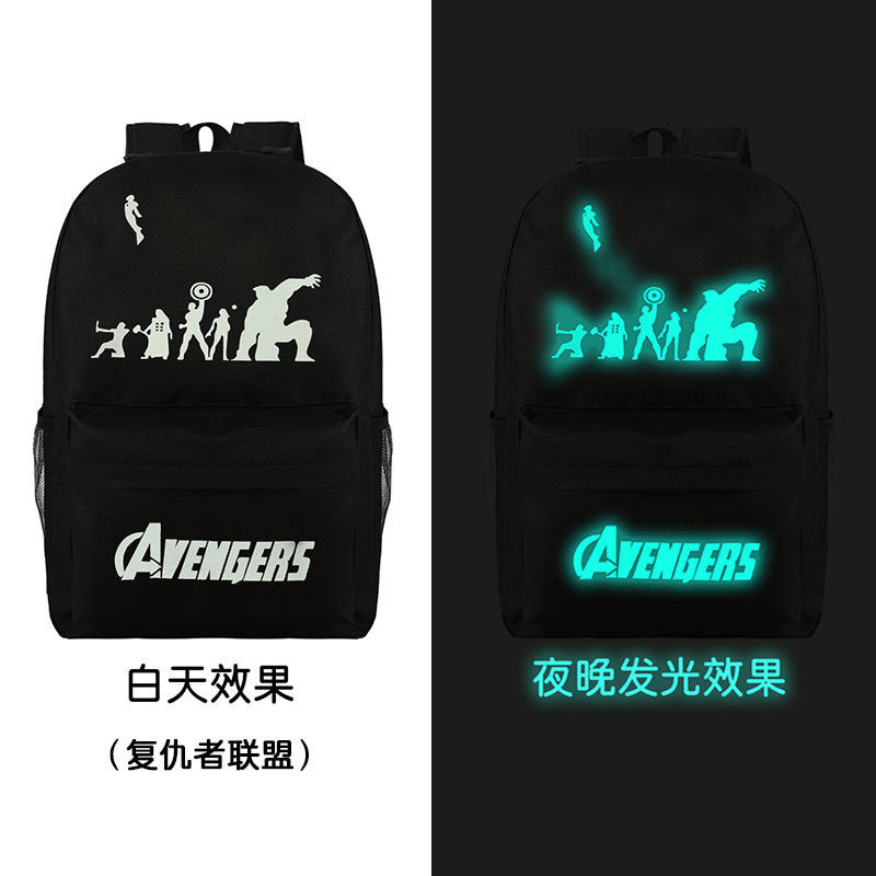 Noctilucent Canvas Chic Backpack Black School Bag - Oh Yours Fashion - 13