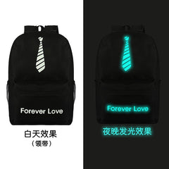 Noctilucent Canvas Chic Backpack Black School Bag - Oh Yours Fashion - 15