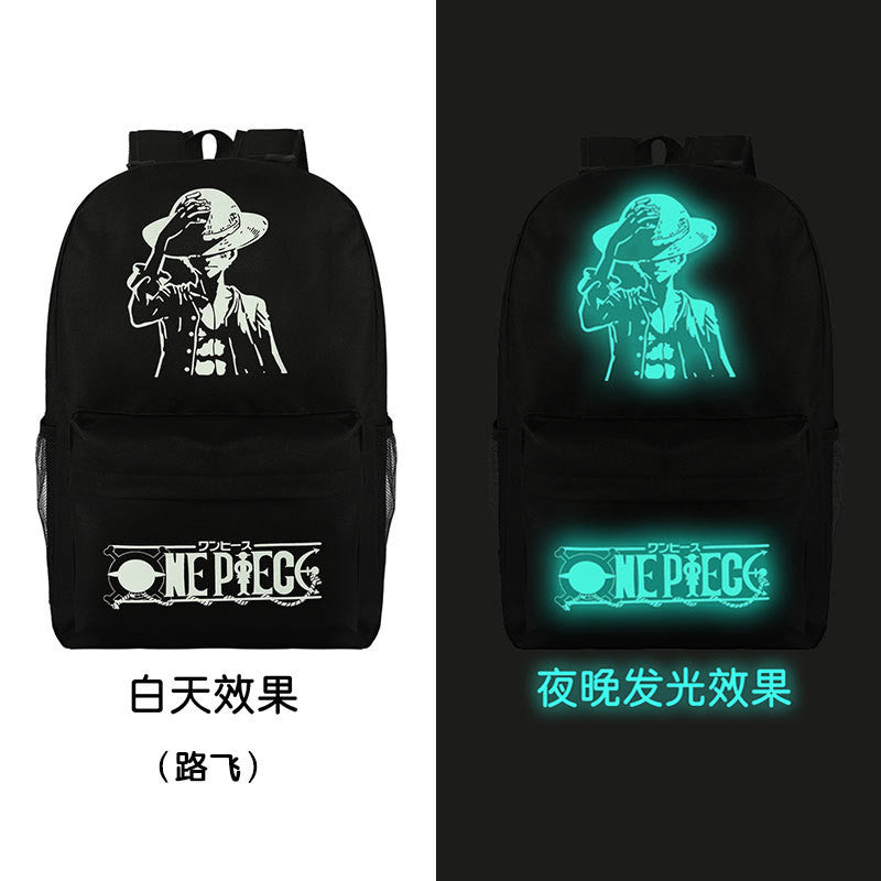 Noctilucent Canvas Chic Backpack Black School Bag - Oh Yours Fashion - 18