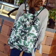 Green Leaves Print Fashion School Backpack - Oh Yours Fashion - 5