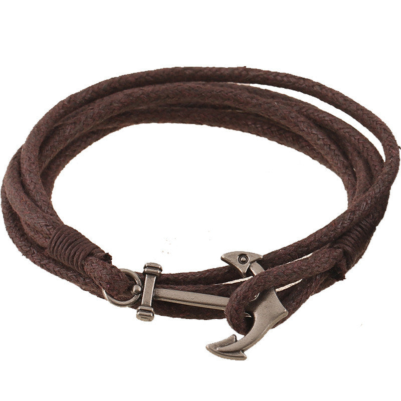 Popular Anchor Decorate Leather Bracelet - Oh Yours Fashion - 2