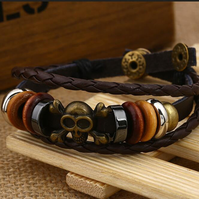 Fashion Beaded Woven Leather Bracelet - Oh Yours Fashion - 5