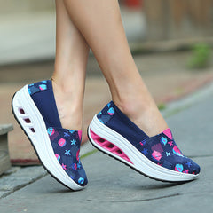 Shaking Print Women's Breathable Sneakers - Oh Yours Fashion - 3